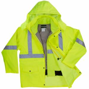 High Visibility 3-IN-1 Parka Jacket with Soft Shell Inner Jacket