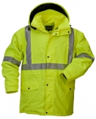 5025-5026 High Visibility 5-IN-1 Parka Jacket with 2-IN-1 Fleece Inner Jacket