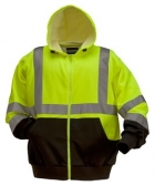 High Visibility Polycotton Fleece Hooded Front Zip Jacket