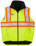 New High Visibility Reversible Fleece Lined Vest