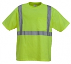 High Visibility Poly-Cotton knitted Jersey T-Shirt with Pocket
