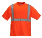 High Visibility Polyester Jersey T-Shirt with Pocket