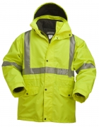 5025-5804 High Visibility 5-IN-1 Parka Jacket with 2-IN-1 Thinsulate Insulation Iinner Jacket